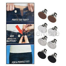 Silver Tone Business Suit Trousers Sewing Metal Hook Buttons 20 Pcs T1