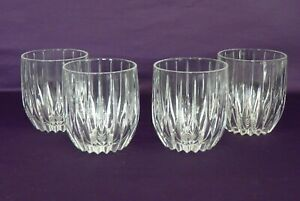 "Mikasa Crystal Park Lane Double Old Fashioned 8oz Glasses 3-7/8""  Set of 4 MINT"