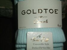 woman's 6pk of gold toe socks fits shoe size 6-9