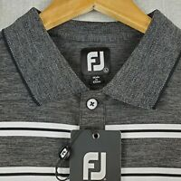 NWT FOOTJOY Size Large Mens Space Dye Golf Polo Shirt Gray Heathered Lisle NEW
