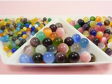 High Quality CAT EYE Round Glass BEADS 4MM / 6MM / 8MM ~Random mixed colors~