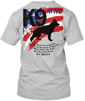 Military War Dogs K9 - Mwd As I Walk Through The Hanes Tagless Tee T-Shirt