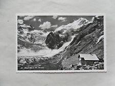 c1965/ 60s B/W Postcard. PIZ BERNINA, Boval Hutte (Cabin Refuge) Switzerland