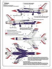 Warbird  USAF Thunderbirds F-105 Thunderchief Decals 1/48 004