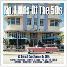 No 1 Hits of The 50s 50 Uplifting Sounds Der 50er Und 60er Jahre Elvis 2 CD