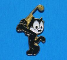 FELIX THE CAT - GOLFING - GOLF - VINTAGE LAPEL PIN - HAT PIN - PINBACK