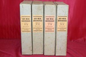 Neue Brockhaus Sonderband Sammlung Buch Der neuartige Atlas Band I-IV 1938 2.WK