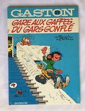 GASTON R3a GARE AUX GAFFES DU GARS GONFLE 1973 FRANQUIN BD  / DUPUIS / TBE