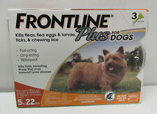 Frontline Plus Dogs Flea Tick Small Dog Treatment 5 to 22 lbs 3 Doses - New