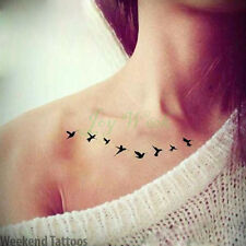 Linea di piccole dimensioni Nero Stelle Temporaneo Tatuaggio Falso Impermeabile Adesivo Trasferimento