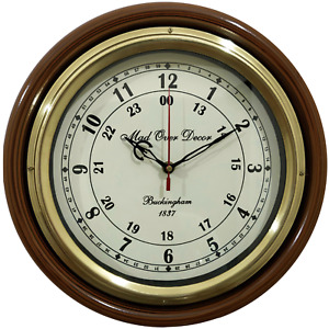 "Antique vintage maritime marine wall clock 12"" decorative buckingham watch gift"