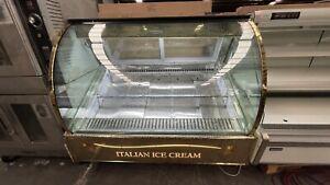 Used Commercial Ice Cream / gelato Display freezer Working