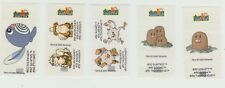 Dunkin Pokemon wrap around bubble chewing gum 2000 stickers x 5 incl Dugtrio