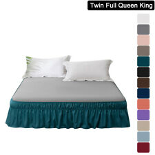 Mohap Elastic Bed Skirt Dust Ruffle Twin Full Queen King Size Wrap Around Bed Us