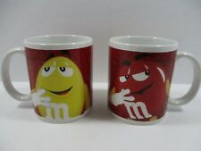M&M's Red And Yellow Character Coffee Mugs Ceramic Tea Cups Drinking Glass