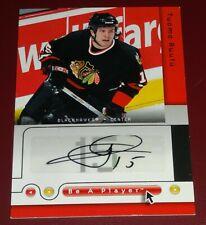 Tuomu Ruutu 2005-06 Chicago Blackhawks Autograph Card - Upper Deck 'Be a Player'