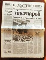 IL MATTINO 11 05 1987 NAPOLI PRIMO SCUDETTO DEL NAPOLI MARADONA FERLAINO MAGGIO