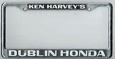 Dublin California Ken Harvey's Honda Superstore JDM Vintage License Plate Frame