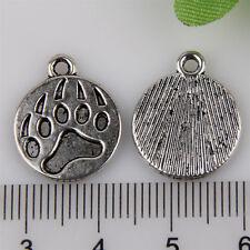 10Pcs Zinc Alloy Bear's paw print Charms Pendants 15x15mm 1A1913