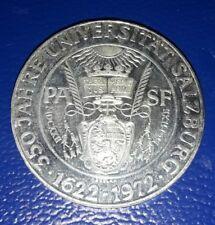 MONETA 50 SCELLINI ARGENTO 1972 AUSTRIA SALZBURG PROOF SILVER PLATA