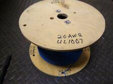 20 AWG Gauge Copper Hook Up Wire UL1007 1569 300V BLUE  ~4000ft 19lb Spool