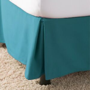 Luxury Bedskirt Dust Ruffle, 14inc Tailored Drop Many Color and All Sizes