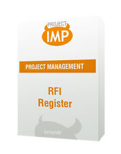 RFI Register - Excel template Tool To Manage Project Communication