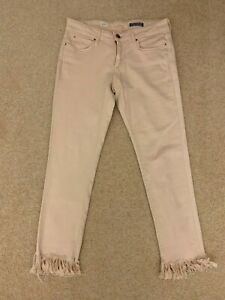 Tommy Hilfiger ladies jeans denim trousers slim fit size 27 with raw ends