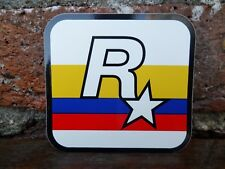 $$$ RARE COLOBIA FLAG ROCKSTAR GAMES LOGO VINYL STICKER $$ GRAND THEFT AUTO $$$
