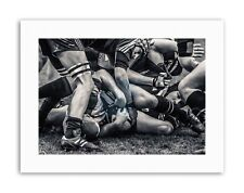 RUGBY FOOTBALL CLOSE UP SCRUM PLAYERS BALL GAME Poster Sport Canvas art Prints