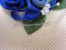 1 x Verlängerung Armband 925er Silber Kette  9 cm 2 Verschlüsse