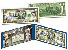 USA $2 Dollar Bill BABE RUTH New York Yankees BaseBall Legal Tender Certificated