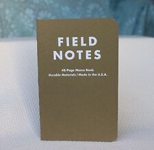 Field Notes Balsam Fir Edition (Winter 2010) Notebook