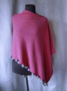🔻White Stuff Penelope Poncho in pink Pom Pom