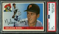 1955 Topps BB Card #112 Nelson King Pittsburgh Pirates ROOKIE CARD PSA NM 7 !!!!