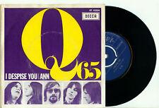 "Q65 - I Despise You / Ann (1966 DUTCH GARAGE CLASSIC PS EX+ VINYL SINGLE 7""/45)"