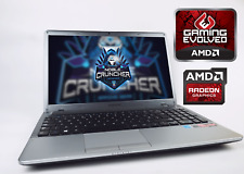 "Cheap Gaming Laptop Samsung NP 15.6"" AMD A8 Quad 1TB HDD 6GB RAM Radeon HD 7640G"