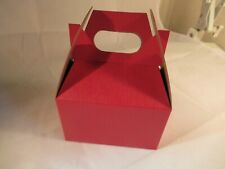 Gable Box 10 Red Pc - Party Favors, Gift Box