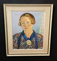Spannendes Damenportrait Fauvismus im Stil HENRI MATISSE. Seltenes Ölgemälde