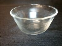 Lot of 3 Pyrex 6 oz # 463 Clear Glass Custard Cups 3 Ring Smooth Edges FREE SHIP