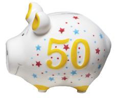 """KCG Sparschwein """"50"""", Geburtstag Geschenk Geschenkidee Geldgeschenk 50. Jubiläum"""