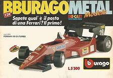 X1337 Ferrari 126 C4 Turbo - Bburago - Pubblicità del 1989 - Vintage advertising