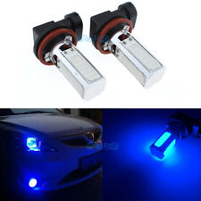 2Pcs H11 4COB Blue LED Fog Light Driving Replacement Bulbs For Audi BMW Acura
