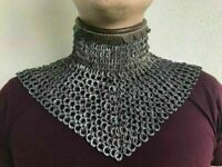 Details about  /Chain Mail Mental collar 8 mm 18 gauge flat ring dome riveted with solid ring