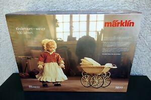 Vintage Märklin 1611 Puppenwagen mit Heidi Ott Puppe mit Zertifikat OVP Neu