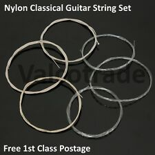 Complete Set of 6 Nylon Strings for Classical Guitar Full Size 4/4 and 3/4 Size