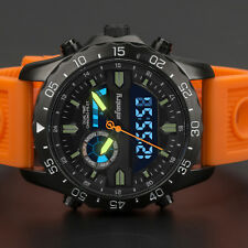 INFANTRY Herren Digitaluhr Analog Armbanduhr Uhr LED Stoppuhr Wecker groß Orange