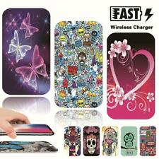Universal Printed QI Wireless Charger Charging Pad Mat Dock Fit mobile phones