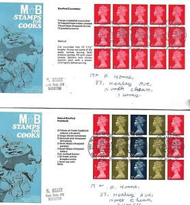 1969 GB-Stamps for Cooks Booklet Panes on 4 Milk Marketing Board Official FDC's