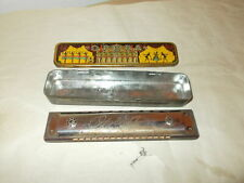 Vintage Opera Brand Harmonica-Made In Germany U.S. Zone-Tin Original Case-Key G